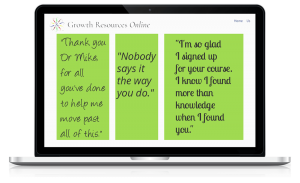 Growth Resources Online, Personal Growth, Online Courses, Testimonials 2